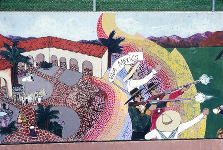 Great Wall of Los Angeles: detail: 1822 Mexican Rule, battle