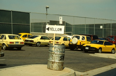 Carpark: Parking lot devoted to yellow cars