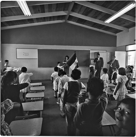 In the classroom at Alessio School Number 4, Colonia Postal