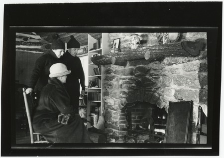 Cabin interior, by the hearth
