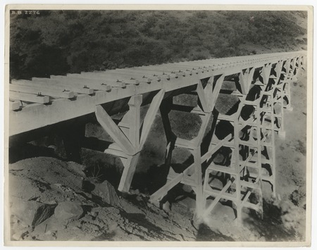 Lake Hodges flume trestle