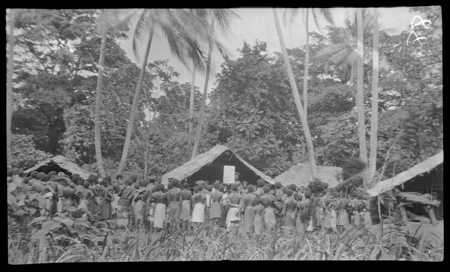 Hookworm lecture at Garua Island, New Britain.