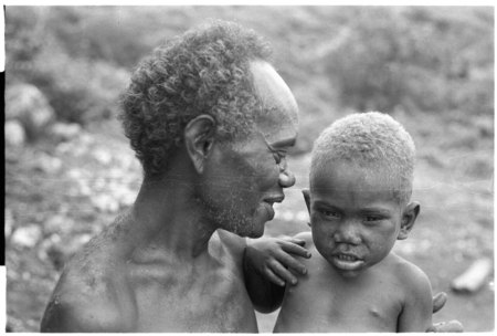 Kaakale and his grandson Ote'agu.