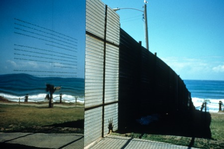 Picturing Paradise: Border fence with mirrored surface