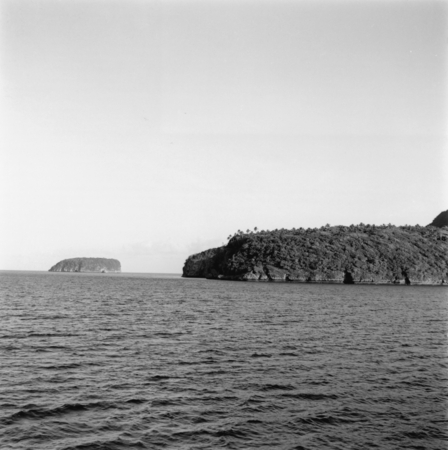 Vava'u Island and a smaller island, in the island nation of Tonga in the South Pacific during the Capricorn Expedition (19...