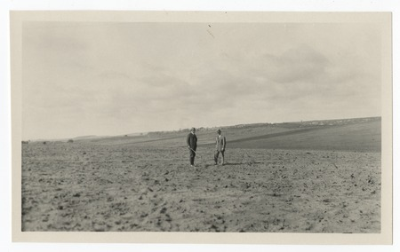 Men in a field, Cardiff Heights