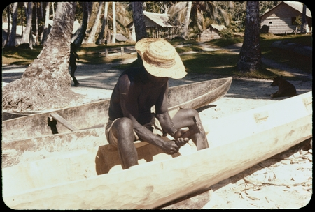 Canoe being carved