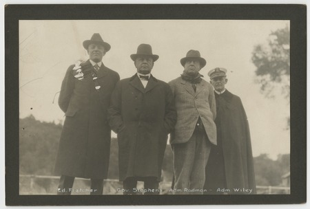 Ed Fletcher, William D. Stephens, Hugh Rodman and Henry Ariosto Wiley