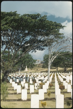 Graves at Bomana War Cemetery near Port Moresby, Papua New Guinea