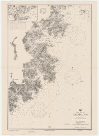 Japan : Honshu-south coast : Owashi Wan with the adjacent coast