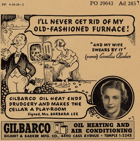 Gilbert and Baker advertisement