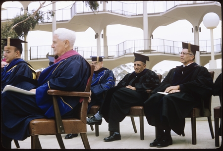 Speakers at Chancellor John S. Galbraith's inauguration ceremony