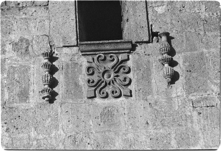 Exterior architectural detail at Misión San Borja