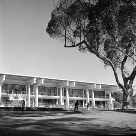 Galbraith Hall on the campus of UCSD. This building used to house the UCSD Undergraduate Library (in the late 1990's it be...