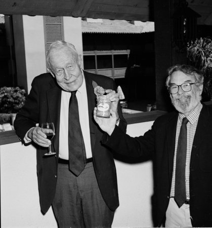 Roger Revelle and John McGowan. Roger Revelle's 80th birthday party, March 7, 1989
