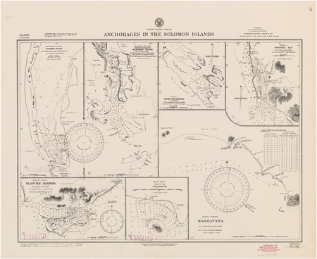 South Pacific Ocean : anchorages in the Solomon Islands