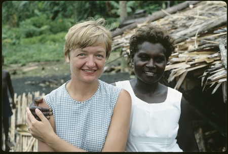 Portrait of Anne Scheffler with Solomon Island woman