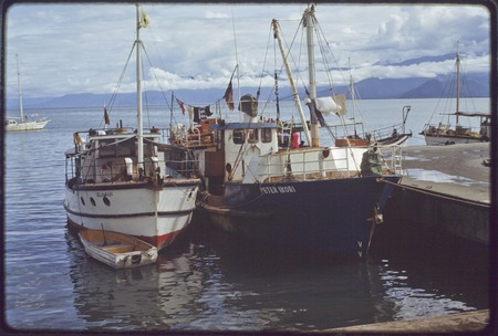 Small ships, Lelaman and Peter Ikori, in port