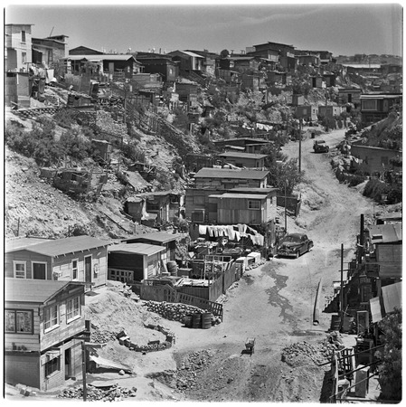 A canyon in the western sector of Tijuana, typical of the irregular settlements of the city