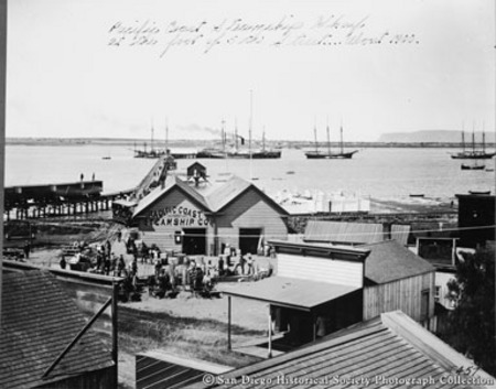 Pacific Coast Steamship Wharf at the foot of 5th Street--about 1900