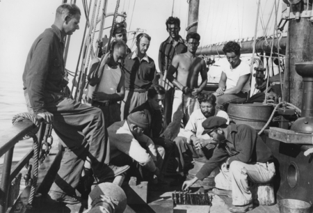 Crew and scientists aboard R/V E.W. Scripps. Gulf of California Expedition, 1940
