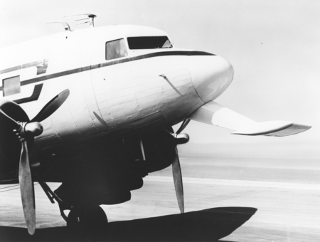 In 1962 Applied Oceanography Group (AOG) at Scripps Institution of Oceanography leased this DC-3 airplane and it would lat...