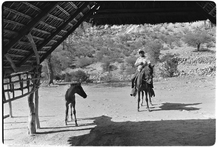 The corredor, a roofed and open-air porch, at Rancho La Soledad