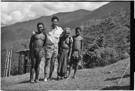 Roy Rappaport with Mbabi, Yembs, and unidentified boy.