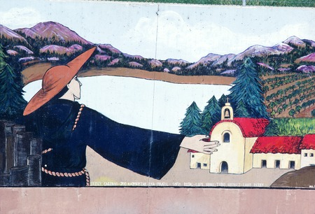 Great Wall of Los Angeles: detail: 1822 Mexican Rule
