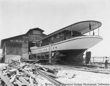 Construction of Baron Long's yacht at Campbell Machine Company