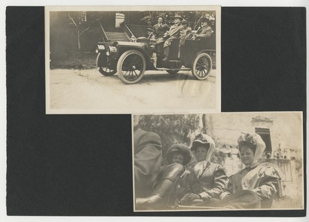 Ed Fletcher and others in automobiles