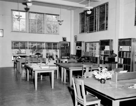 """Library, Main Room, 1949"" [Scripps Institution of Oceanography Library]"