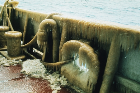 [Ice on deck of D/V Glomar Challenger] Antarctica, Leg 28