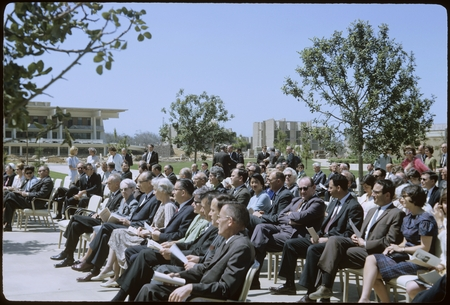 Bonner Hall building dedication ceremony audience