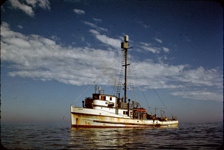 Scripps Institution of Oceanography's R/V Paolina T., at sea