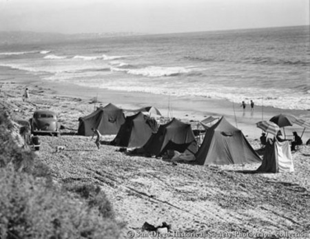Camping On Torrey Pines Beach
