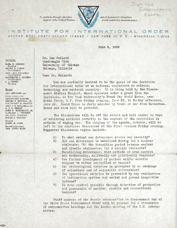 Institute for International Order   Library Digital Collections   UC