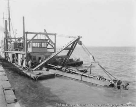 Dredger on San Diego waterfront