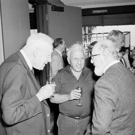 Roger Revelle, Edward Goldberg, and William H. Thomas. Roger Revelle's 80th birthday party, March 7, 1989