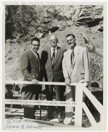 M. Phelton, Ed Fletcher and Dean E. Howell of the Metropolitan Water District