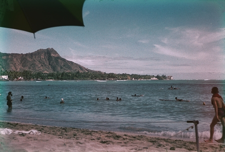 A View Of People Enjoying The Water Sports In Waikiki Beach Honolulu Hawaii This Photo Was Taken By Member Scientific Party While Taking