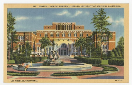 Edward L. Doheny Memorial Library, University of Southern California, Los  Angeles, California | Library Digital Collections | UC San Diego Library