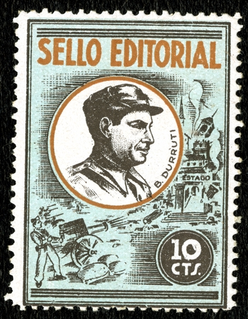 Spanish Civil War Stamp: Anarchists