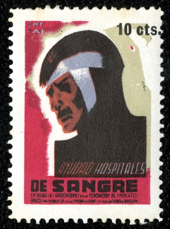 Spanish Civil War Stamp: Political and Trade Organizations