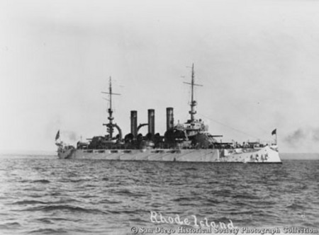 Great White Fleet battleship USS Rhode Island