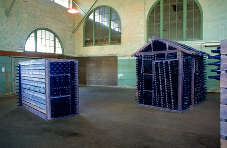 Abode: Sanctuary for the Familia(r): general view of installation in Santa Fe Depot