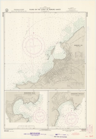Japan : east coast of Hokkaido : plans on the coast of Nemuro Hanto
