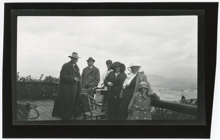 Unidentified group portrait on deck