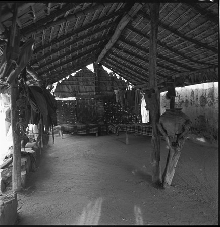 The corredor, a roofed and open-air porch, at Rancho San Martín