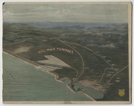 Map of Del Mar Terrace development in San go County | Library ... Del Mar San Go Map on
